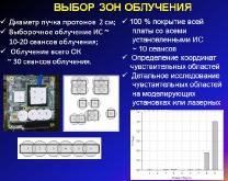 Подход к испытаниям модулей на высокоэнергичные протоны