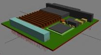 3D модель одноплатного компьютера